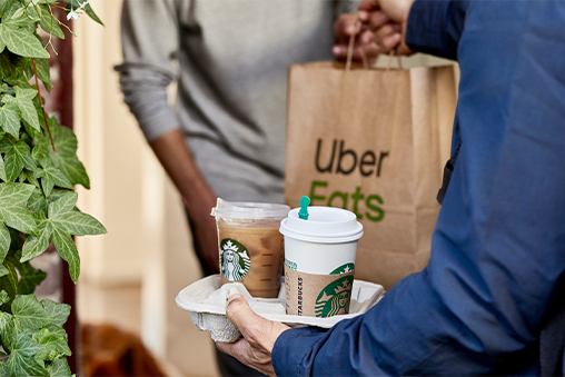 Starbucks coffee and food delivery